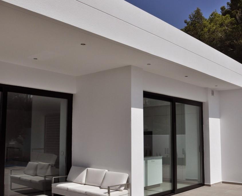 Arquitectos Valencia - alzado este vivienda benissa