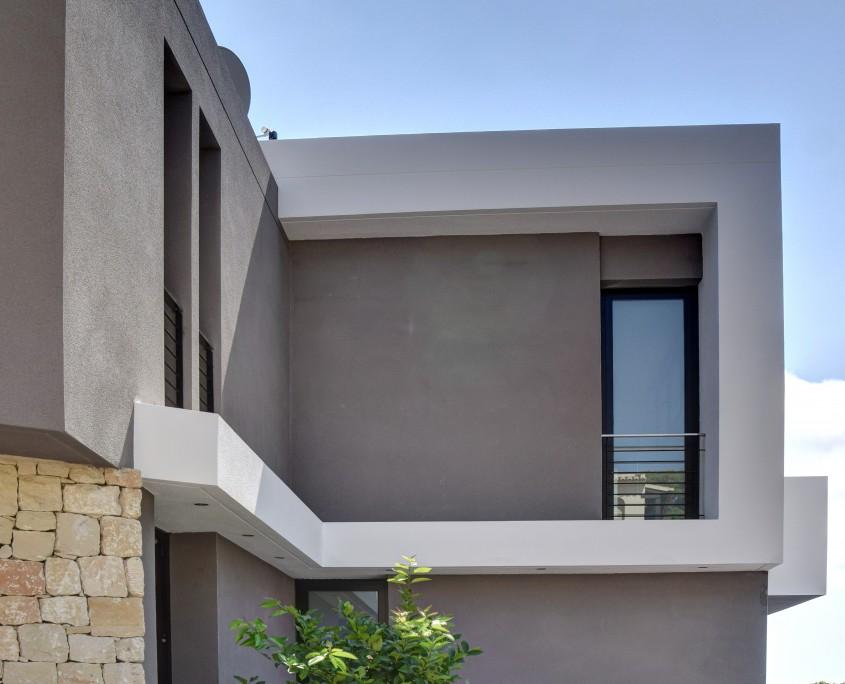 Estudio de Arquitectura - alzado trasero vivienda benissa