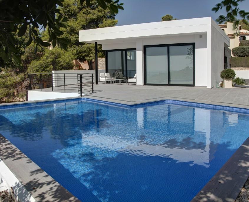 piscina vivienda benissa - LinkeHOME Arquitectos Valencia